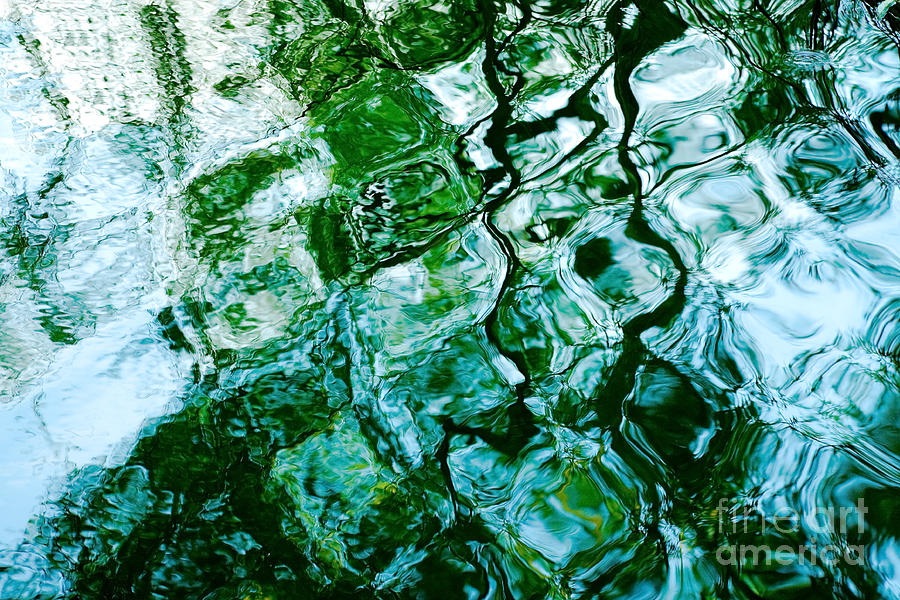 Water Ripples And Reflections Abstract Photograph  - Water Ripples And Reflections Abstract Fine Art Print
