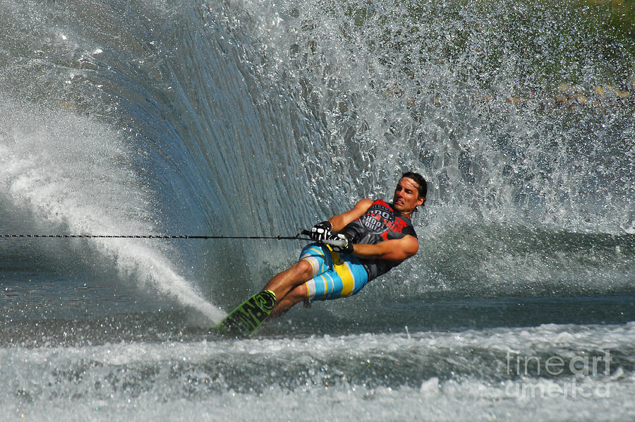 Water Skiing Magic Of Water 14 Photograph  - Water Skiing Magic Of Water 14 Fine Art Print