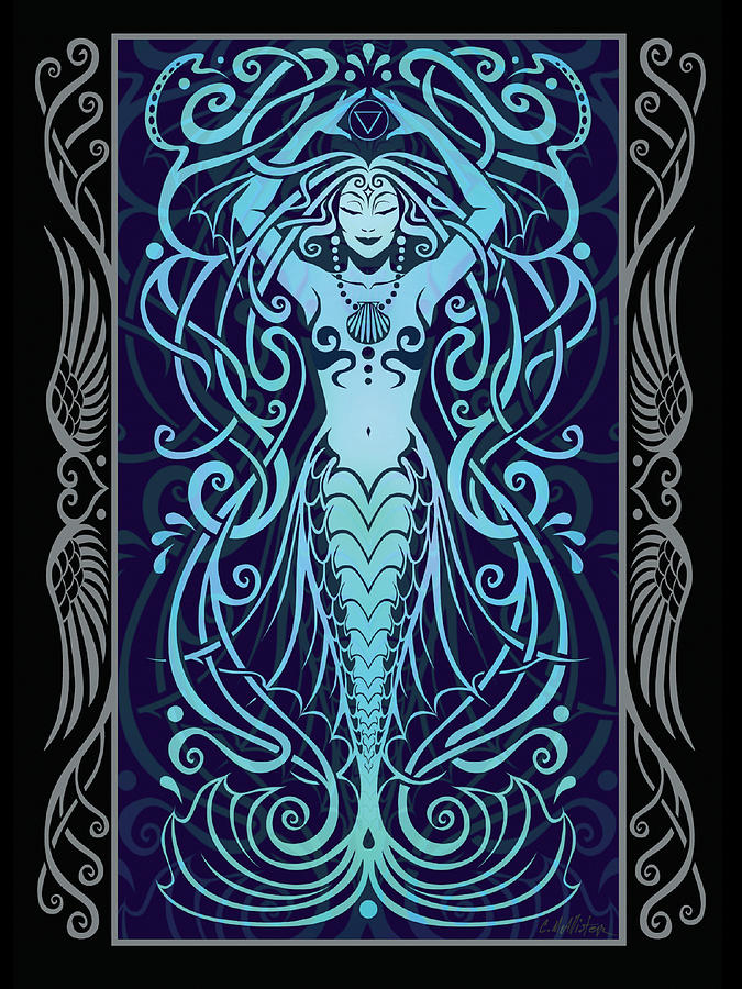 Water Spirit V.2 Digital Art  - Water Spirit V.2 Fine Art Print