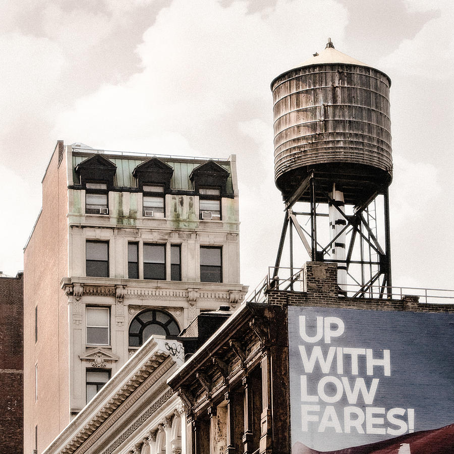 Water Towers Photograph - Water Towers 14 - New York City by Gary Heller