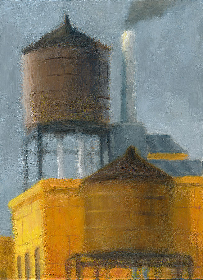 Water Towers Late Afternoon Painting