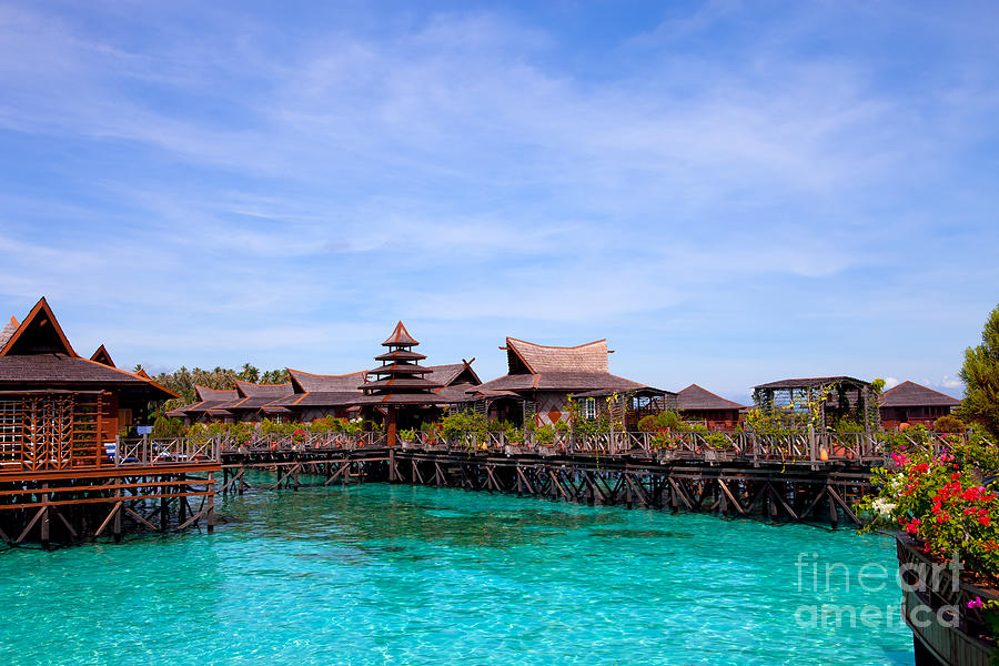 Water Village Borneo Malaysia Photograph
