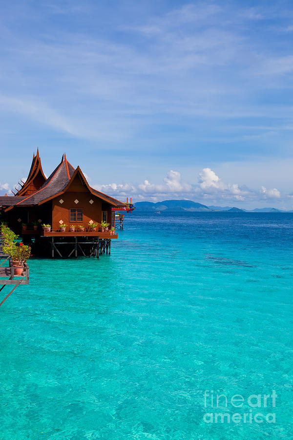 Water Village On Mabul Island Borneo Malaysia Photograph