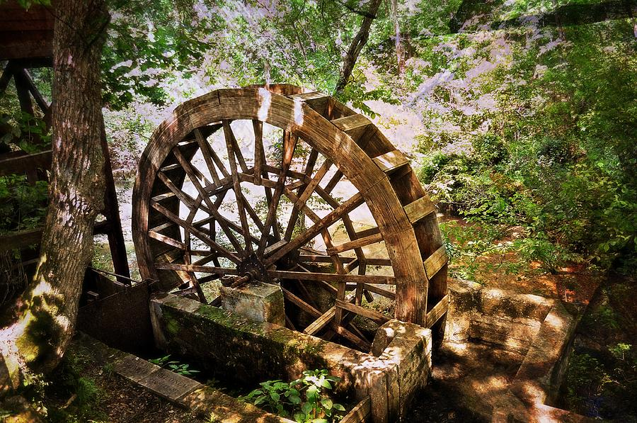 A Water Wheel At The Topaz Mill In The Missouri Ozarks. Photograph - Water Wheel by Marty Koch