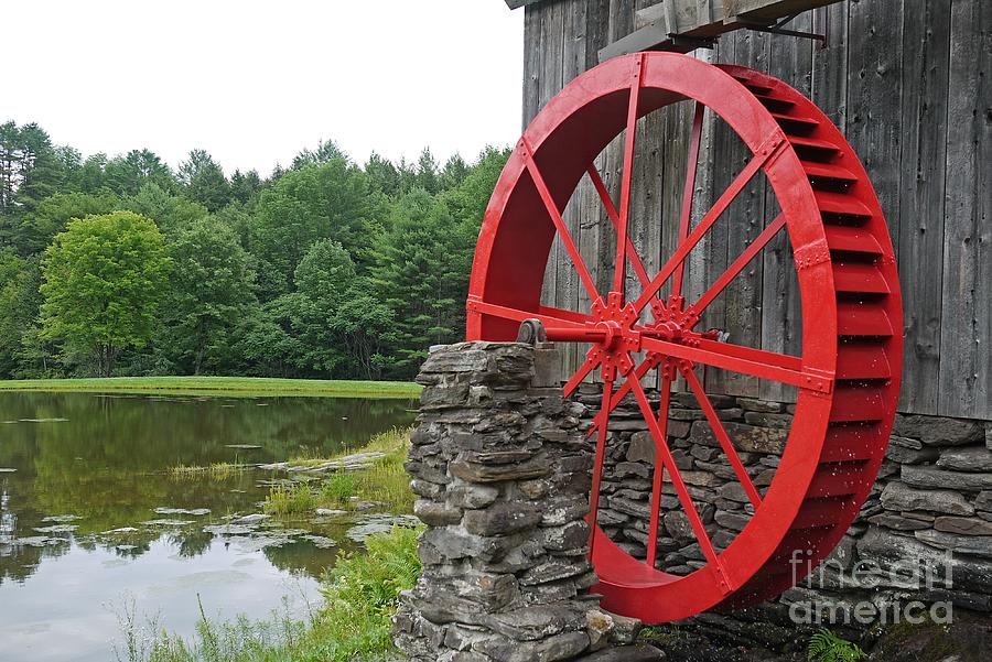 Water Wheel Vermont Photograph