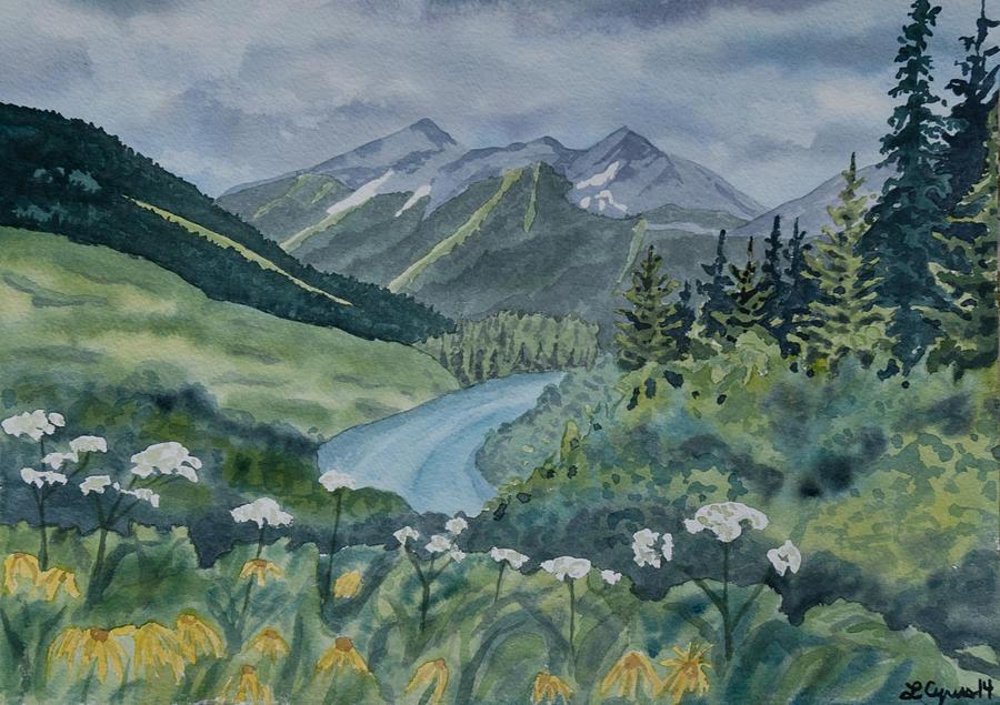 Watercolor - Colorado Summer Landscape Painting by Cascade ...