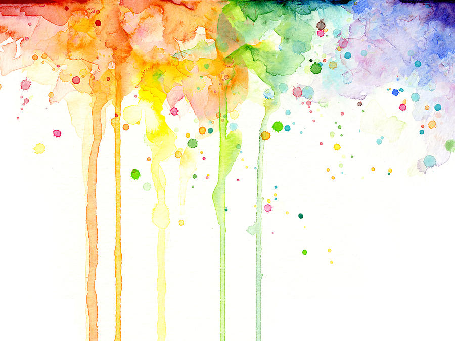 Watercolor rainbow painting by olga shvartsur for Watercolor painting images