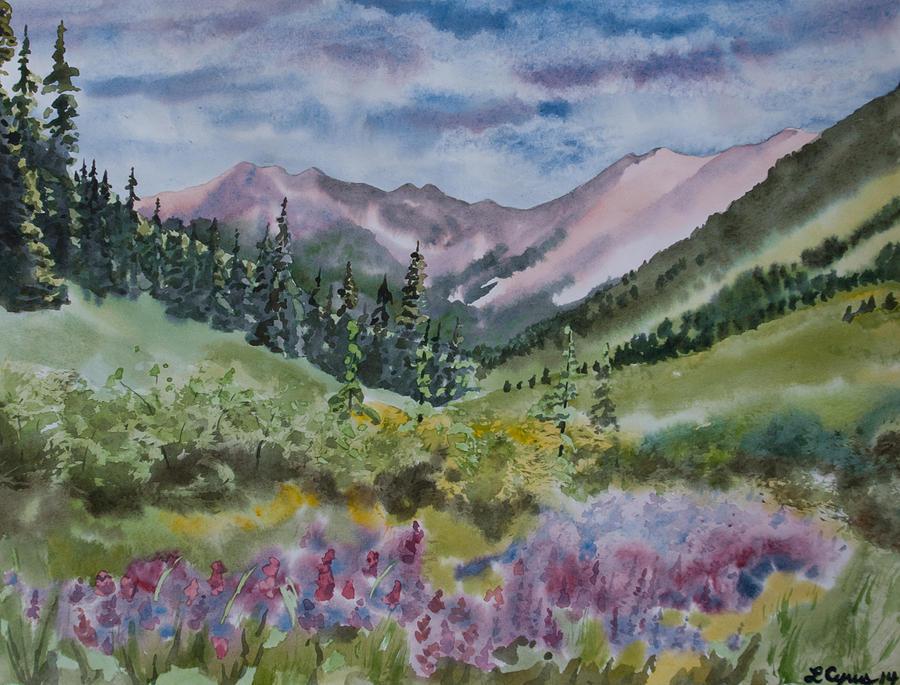 Watercolor - San Juans Mountain - 127.5KB