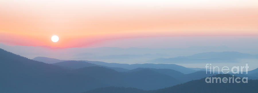 Watercolor Sunrise In The Blue Ridge Mountains Photograph