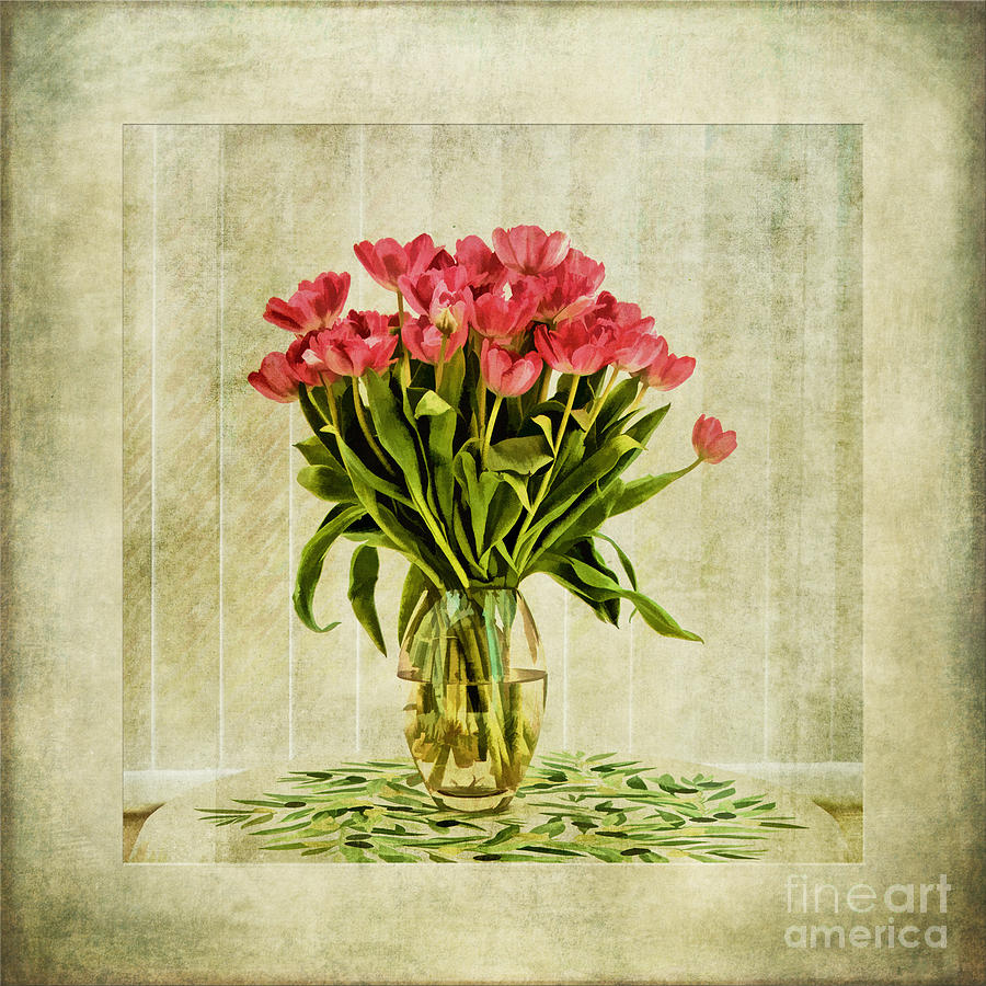 Watercolour Tulips Painting
