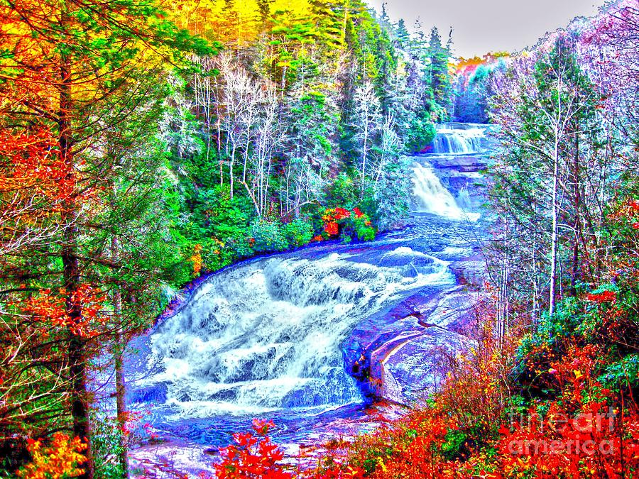 Waterfall At Dupont Forest Nc Photograph