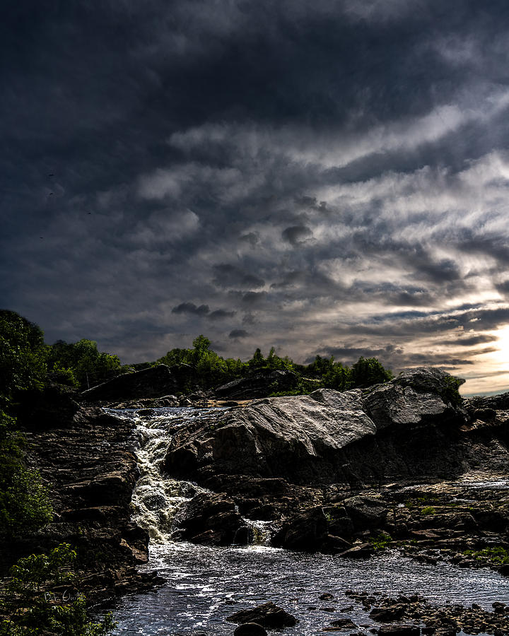 Waterfall At Sunrise Photograph