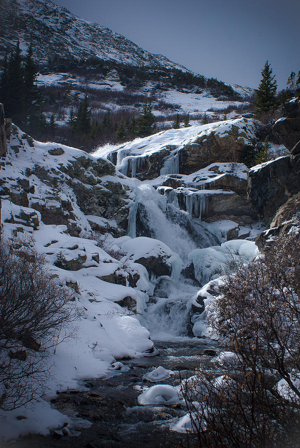 Waterfall Frozen In Time Photograph