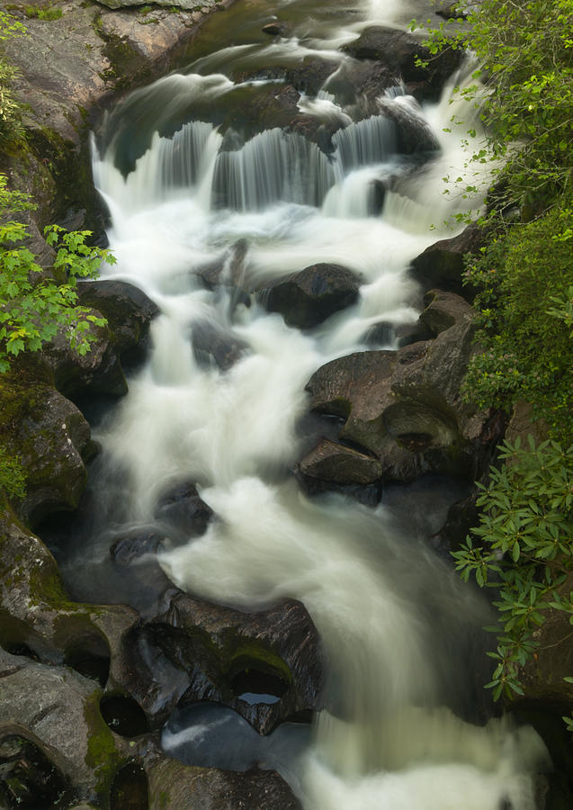 Waterfall In Spring Photograph