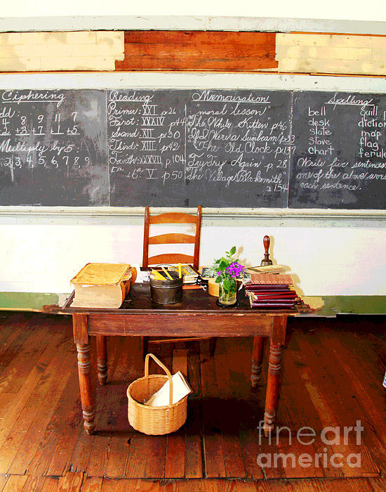 Waterford School Teachers Desk Photograph  - Waterford School Teachers Desk Fine Art Print