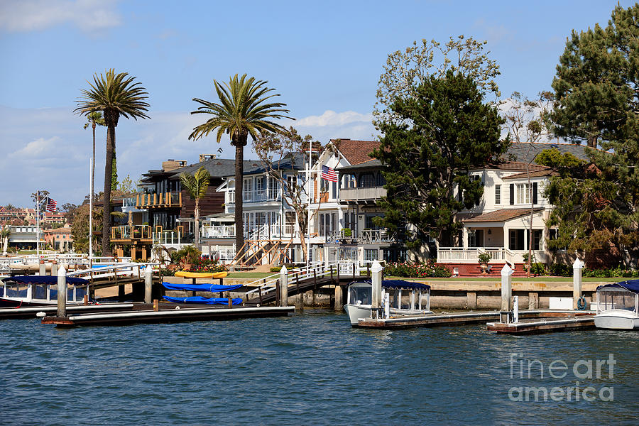 America Photograph - Waterfront Luxury Homes In Orange County California by Paul Velgos