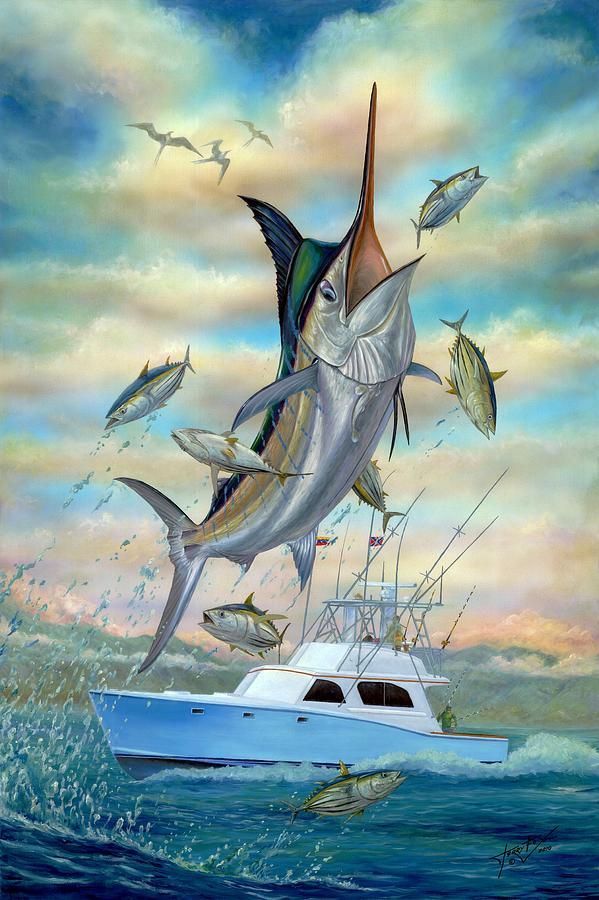 Blue Marlin Painting - Waterman by Terry Fox