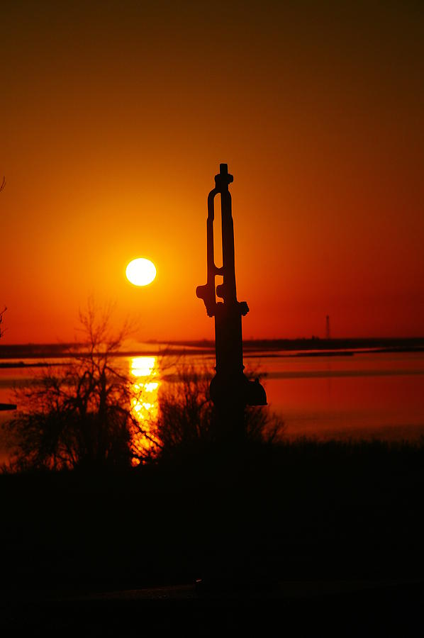 Waterpump In The Sunrise Photograph  - Waterpump In The Sunrise Fine Art Print