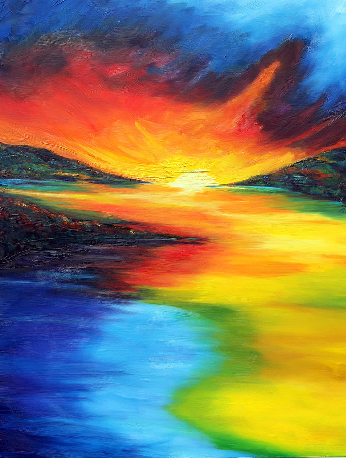 Water Painting - Waters Of Home by Meaghan Troup