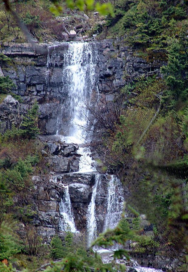 Waterton Waterfall Mixed Media
