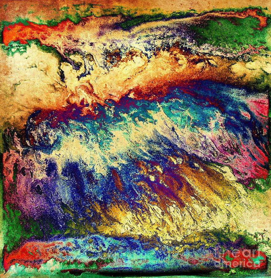 Wave Of Color Digital Art  - Wave Of Color Fine Art Print