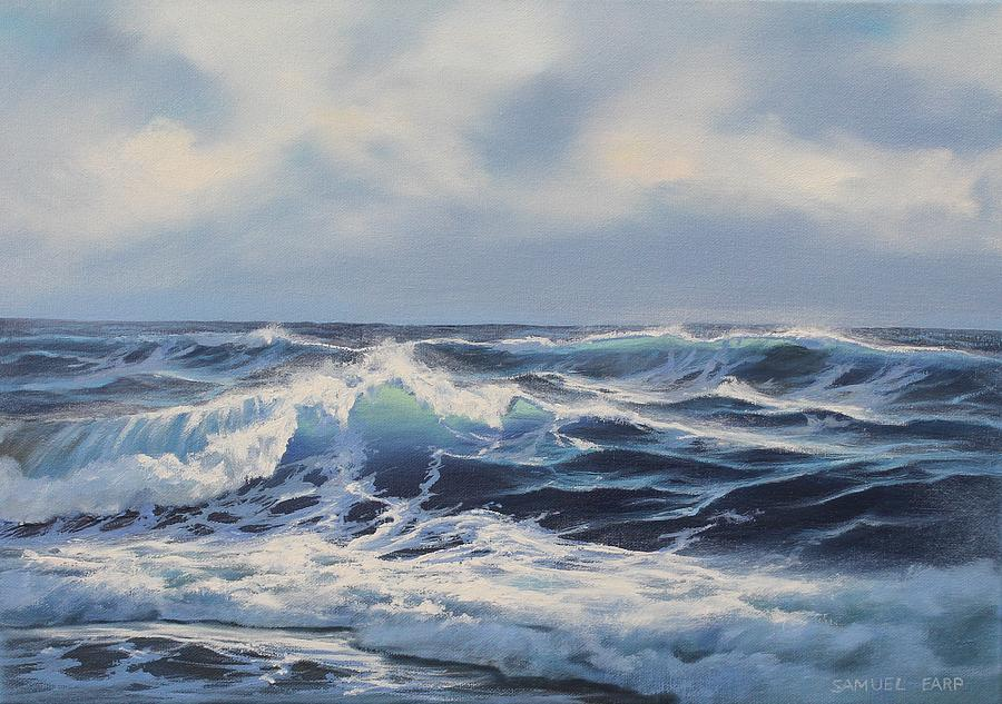 Wave Study 3 Painting