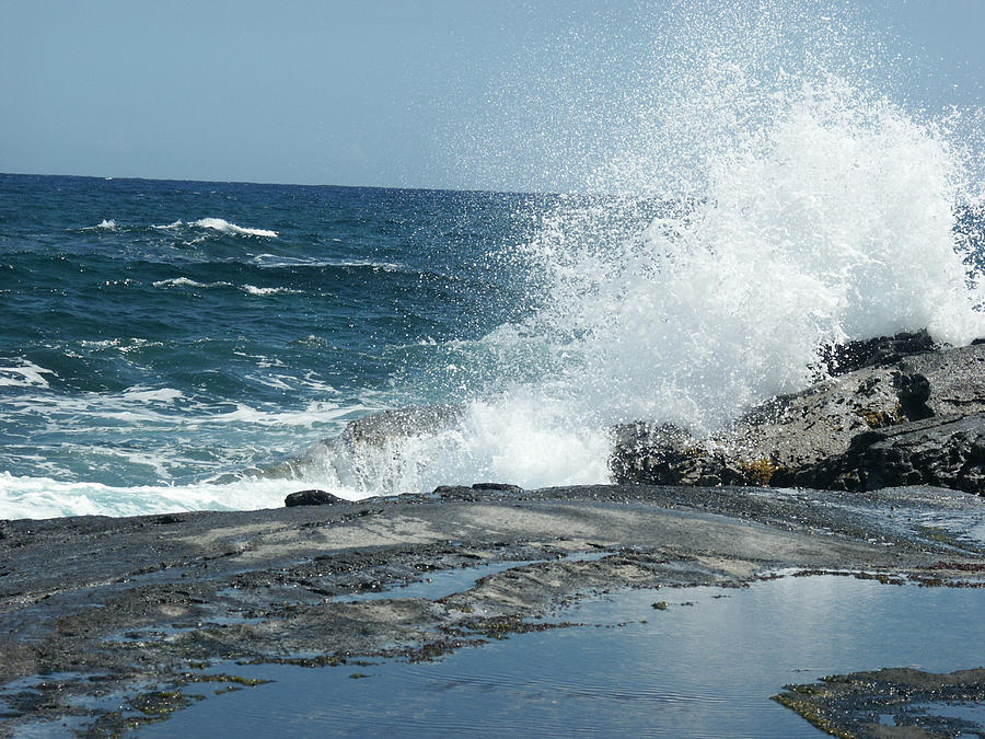 Waves Crashing On The Forbidden Isle Photograph
