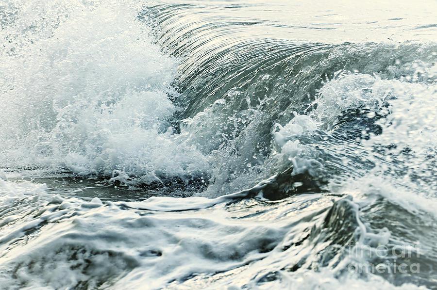 Wave Photograph - Waves In Stormy Ocean by Elena Elisseeva
