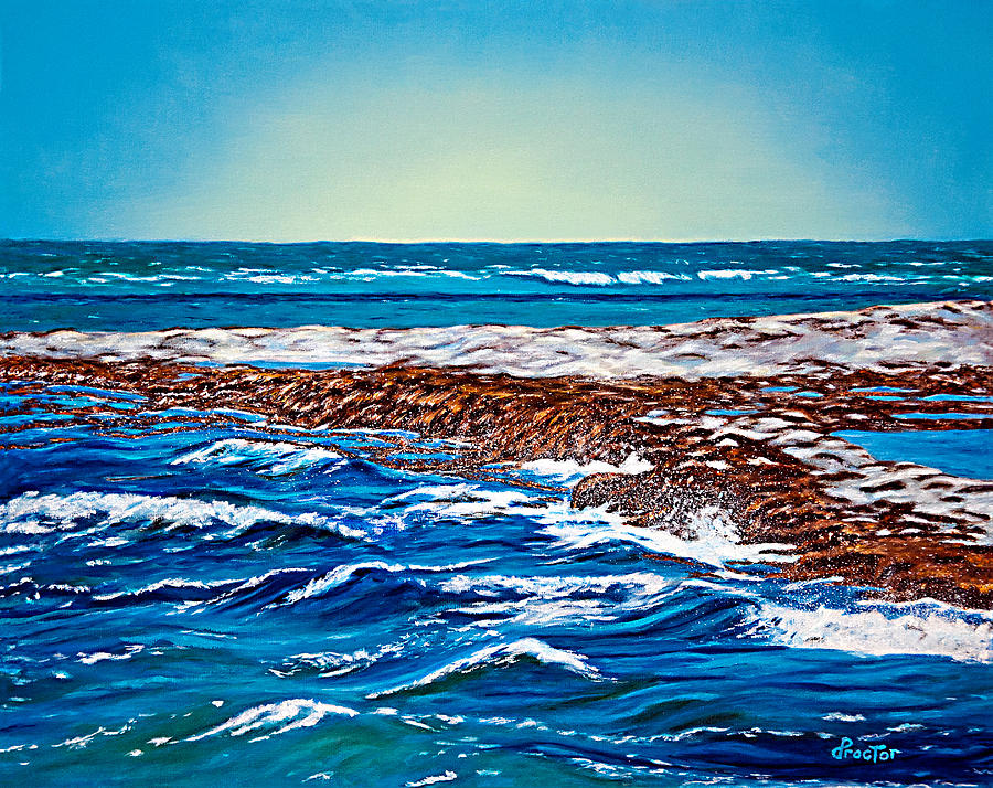 Waves Of Blue Painting  - Waves Of Blue Fine Art Print