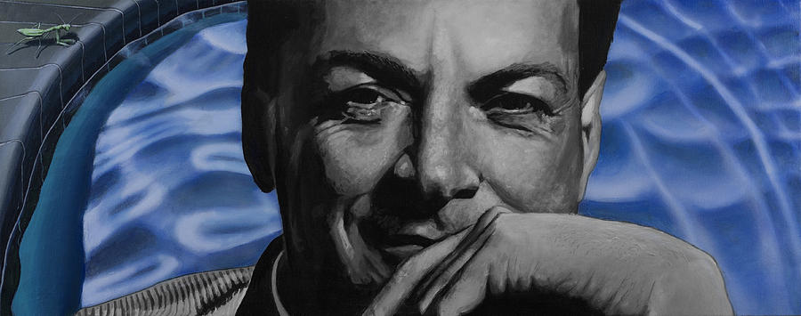 Waves- Richard Feynman Painting  - Waves- Richard Feynman Fine Art Print