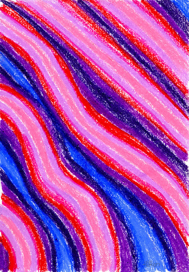 Oil Painting - Wavy Oil Pastel by Hakon Soreide