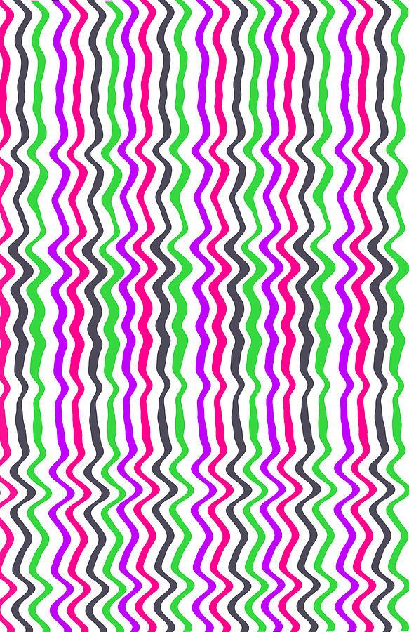 Wavy Stripe Digital Art