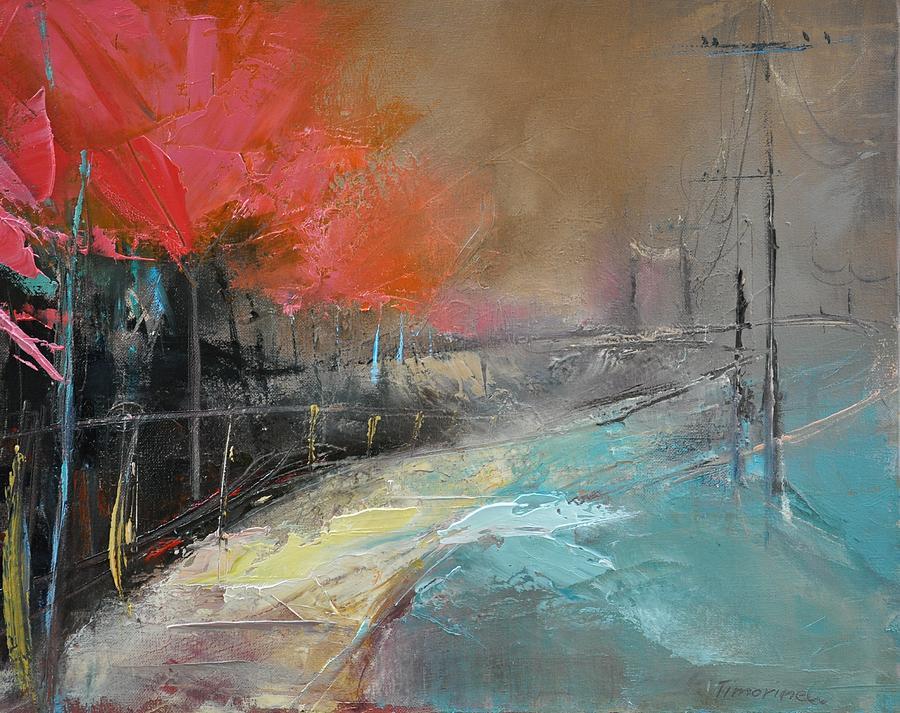 Forest Painting - Way Home Ix by David Figielek