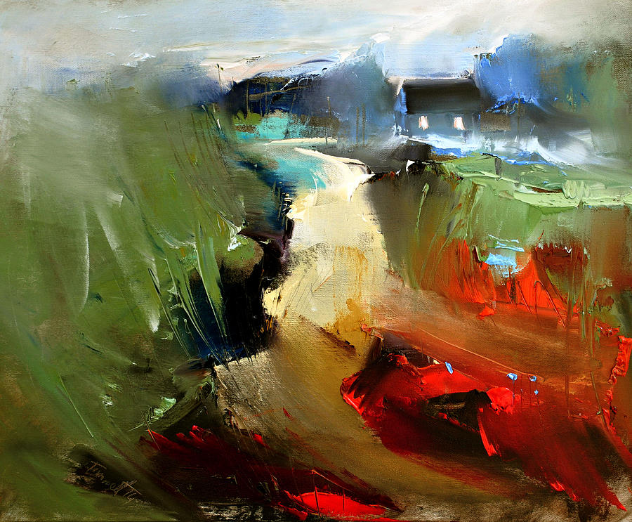 Landscape Painting - Way Home - Serie by Timorinelt Tryptykieu