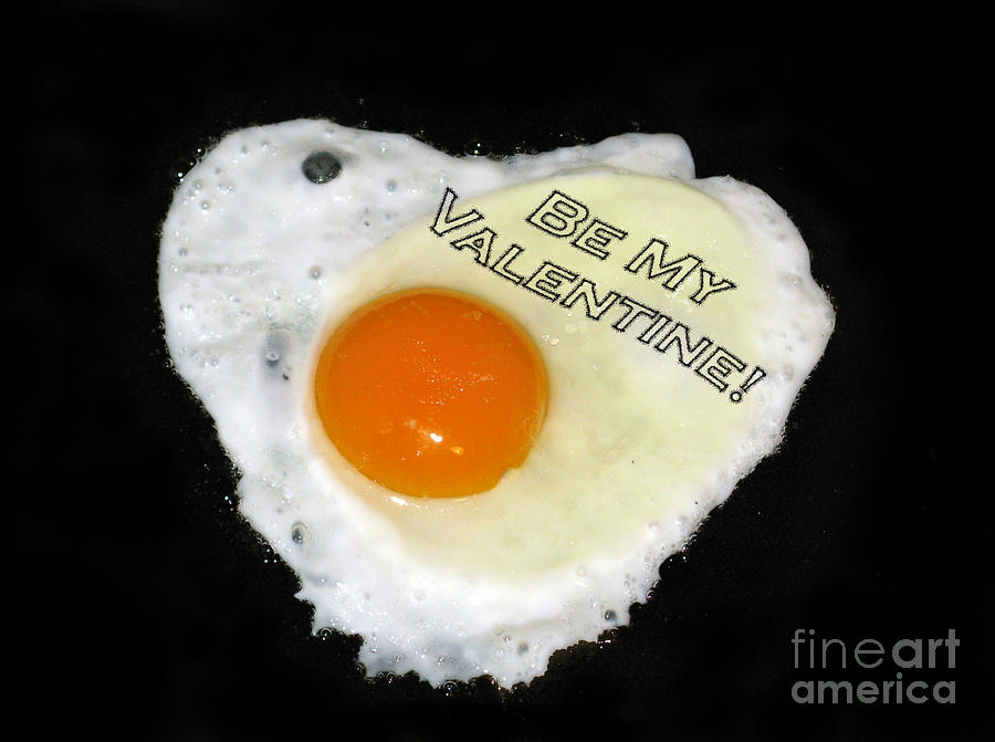 We Are Like Egg And Pepper. Be My Valentine Photograph  - We Are Like Egg And Pepper. Be My Valentine Fine Art Print