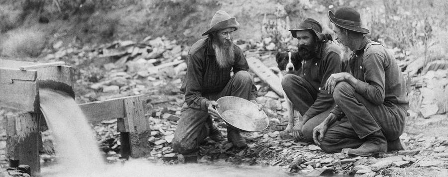 Panning Gold Photograph - We Have Nothing Circa 1889 by Aged Pixel