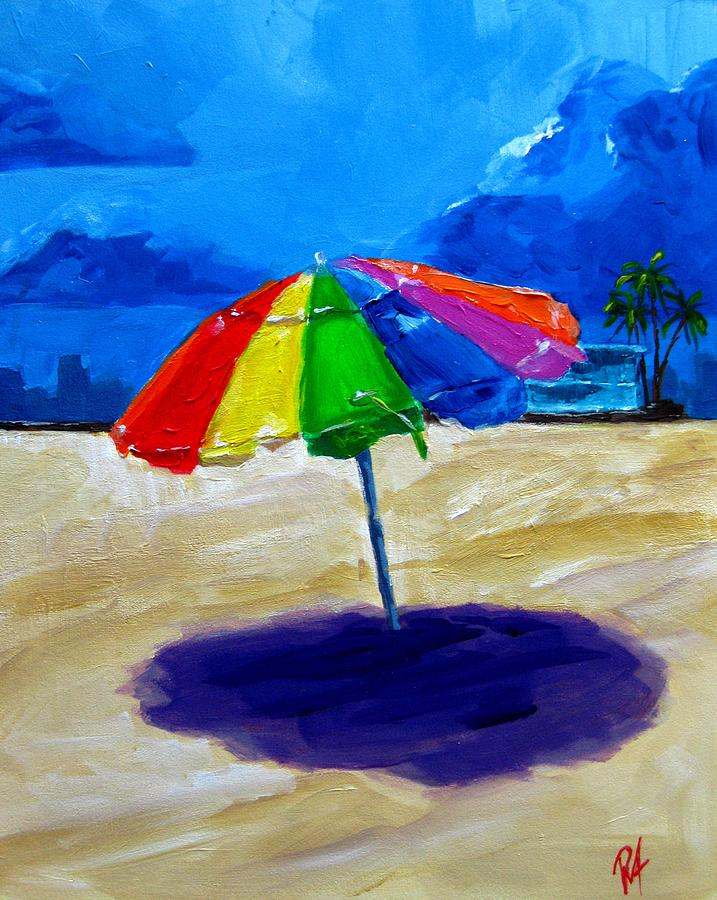 We Left The Umbrella Under The Storm Painting  - We Left The Umbrella Under The Storm Fine Art Print