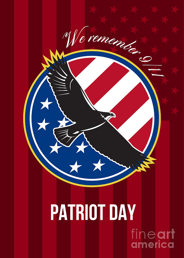 We Remember 911 Patriot Day Retro Poster Digital Art
