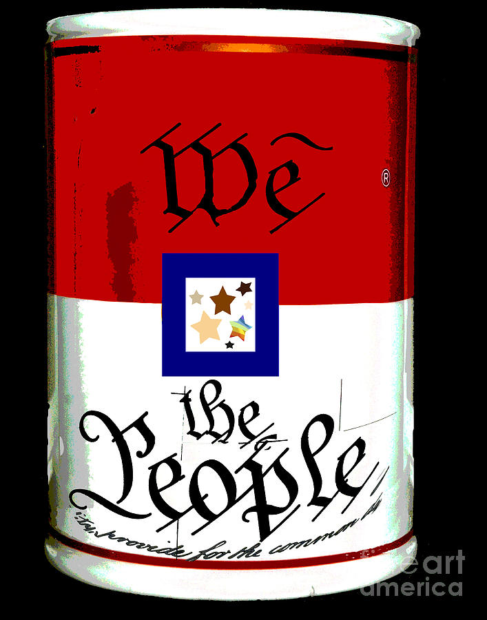 We The People Pop Art Print Digital Art  - We The People Pop Art Print Fine Art Print