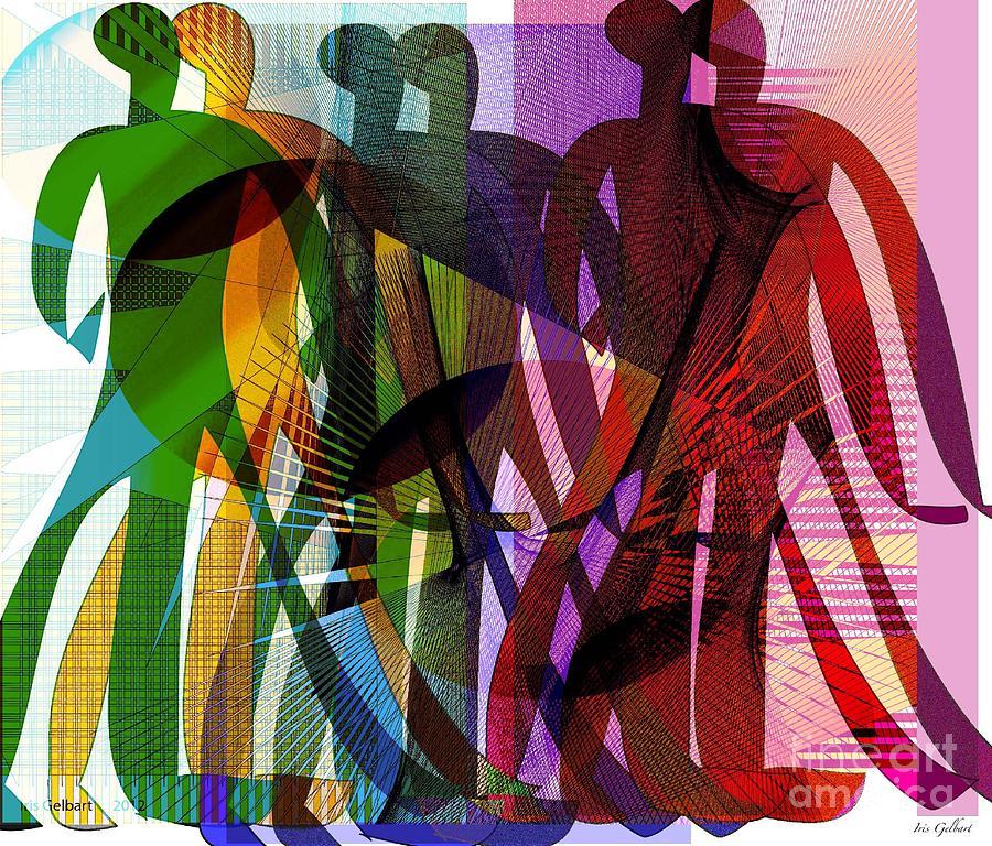 Men Digital Art - We Will March Together by Iris Gelbart