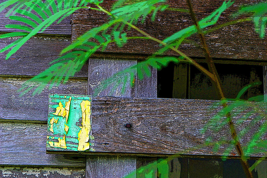 Weathered Wood And Old Paint Pyrography