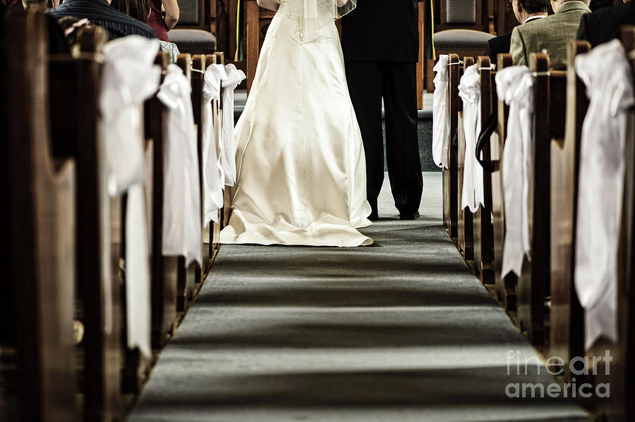 Wedding In Church Photograph  - Wedding In Church Fine Art Print