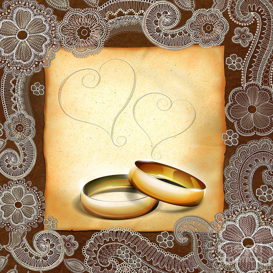 Wedding Memories V1a Classic Digital Art  - Wedding Memories V1a Classic Fine Art Print