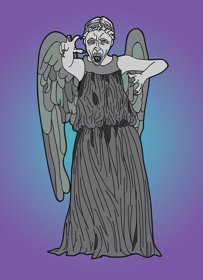 Weeping Angel Digital Art  - Weeping Angel Fine Art Print