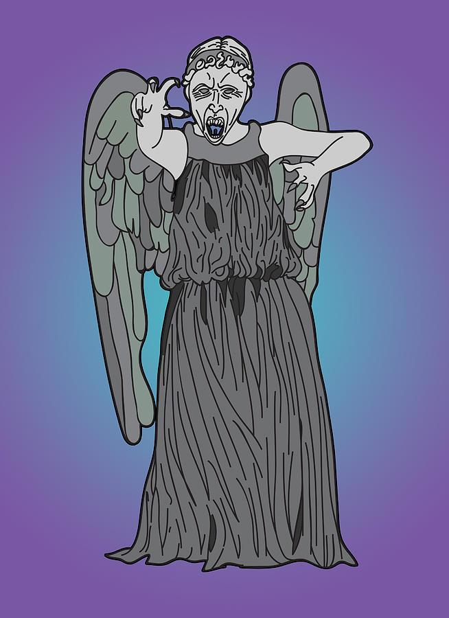 Weeping Angel Digital Art