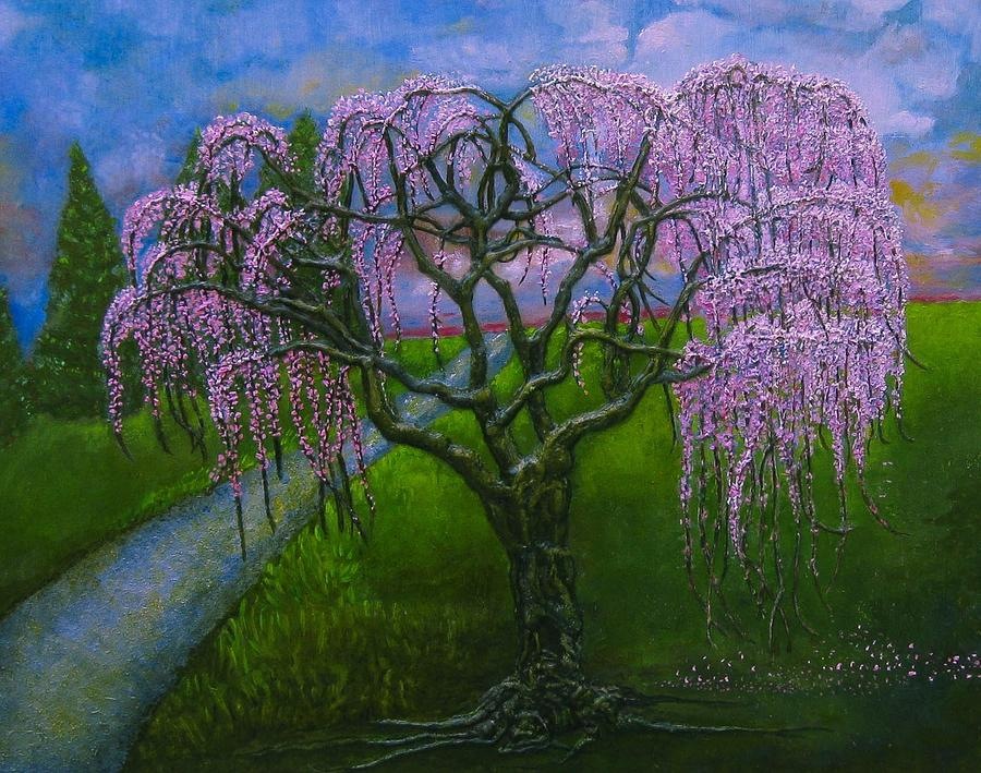 Weeping Cherry Tree Painting