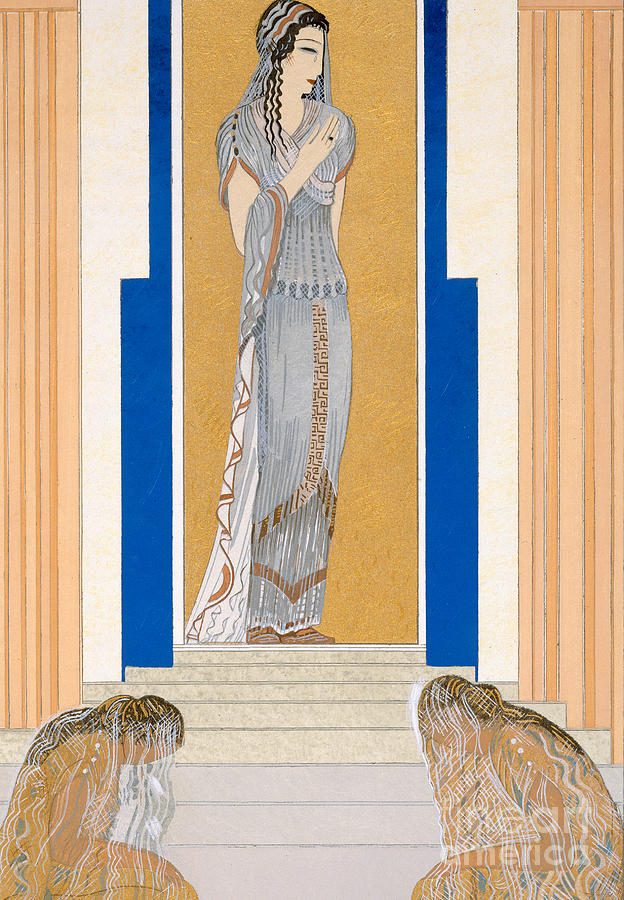 Odyssey Painting - Weeping Penelope by Francois-Louis Schmied