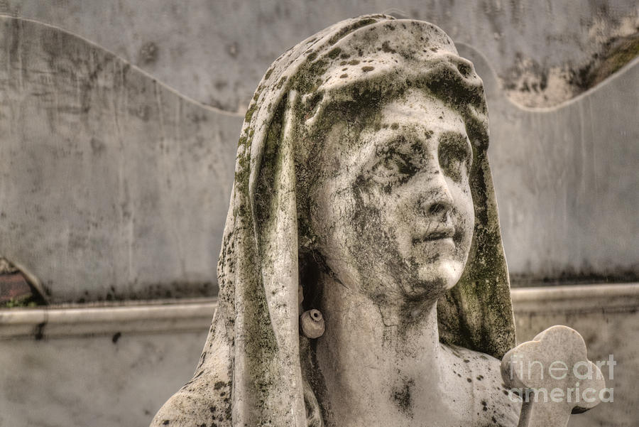 Weeping Statue Photograph