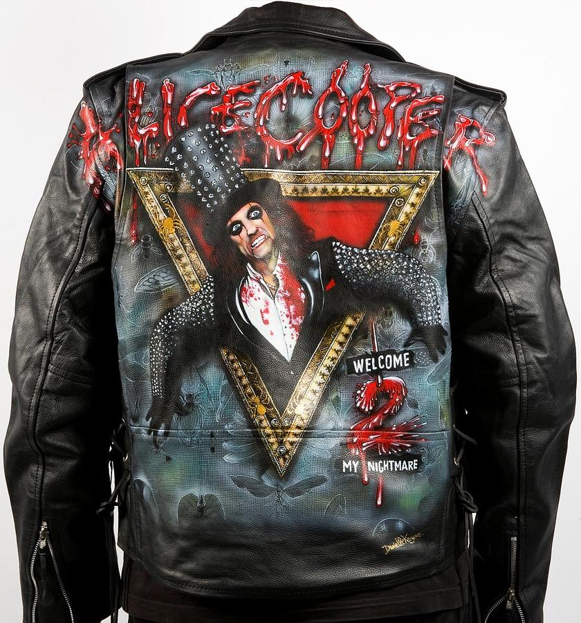 Welcome 2 My Nightmare Leather Jacket By Danielle Vergne Painting