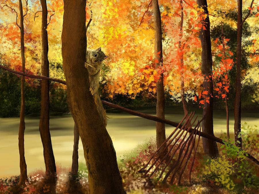 Welcome Autumn Painting  - Welcome Autumn Fine Art Print